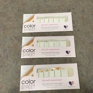 Color Street French Mani City of Love LOT OF 3
